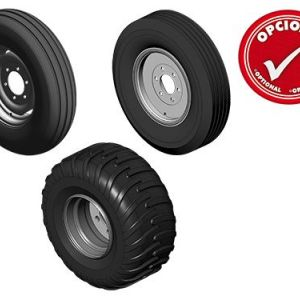 Single tyre 7.50x16 for models 10 discs. / Single 7.50x16 for models 12 discs optional double tyre 7 .50x16./ Double tyre 7 .50x16 for models from 14 to 30 d ises. / Single tyre 900x20 and 400x60 for models from 18 to 30 d ises./ Tyre 1 1 L-15 for models