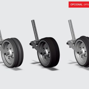 Compression wheel (concave, convex and smooth). Compression wheel (concave, convex and smooth) with articulation.