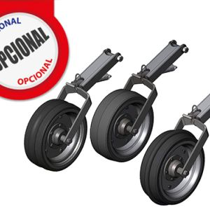 Optional: Compression wheel (smooth, concave and convex).