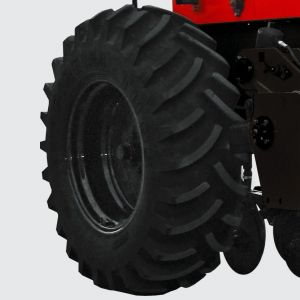 System with tire wheels 18.4 x 30 x 12L to the lowest level of soil compaction and load transfer the drill.