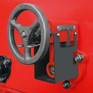 Helical steering wheel, that allows the rotor adjustments by milimeter with more possibilities of variations in the seed distribution.