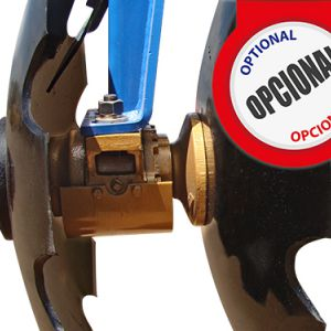 Opcional: Conical bearings: grease or oil bath with wear protection.