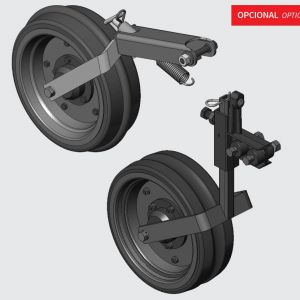 Compression wheel concave, convex and smooth. Gauge wheel concave, convex and smooth with suport.