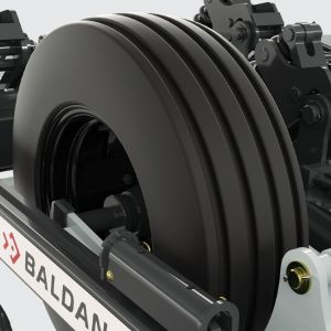 Tires 10.5/80-18 (10 liners) Super Flotation aligned with the disc and ridger (prevents from bushing at higher flow rate).