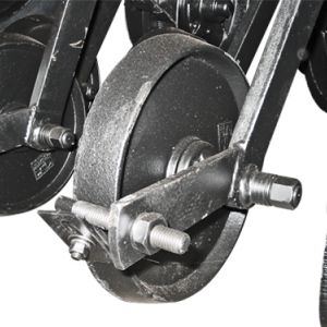 Cast iron compression wheel unit.