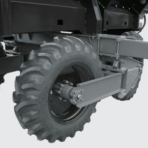 Cross System for effective and safe operation in all types of terrain, avoiding soil compactation