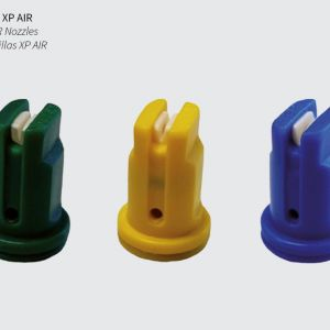 Nozzles in ceramic material, with the options of 2 models XP AIR and XP, where the application is produced in a jet format in the fan-type opening, both types will be keeping the application uniform throughout the range.