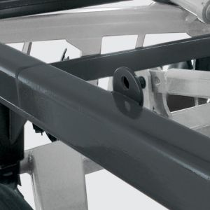 Structure built by tubular beams of high resistance